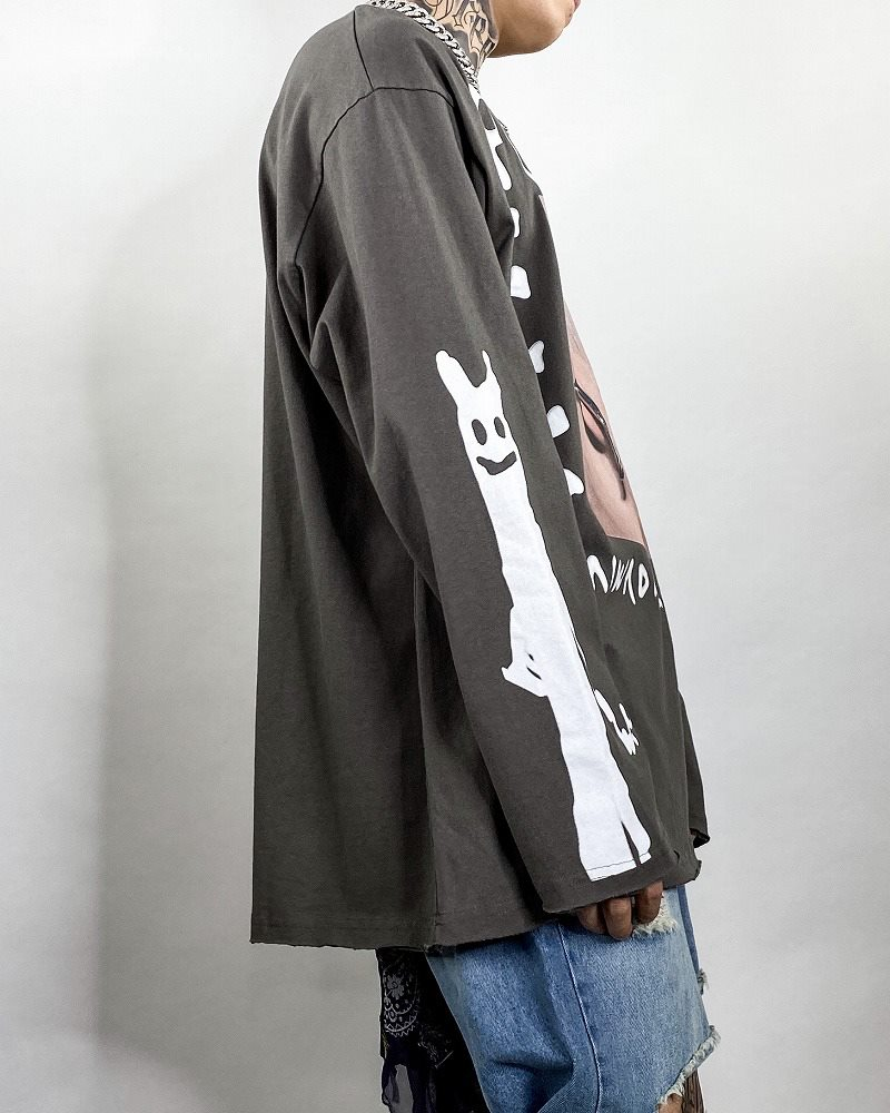 《2色》PUNK OFF ロングTシャツの画像5